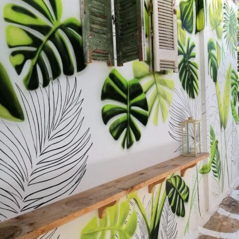 tropical ζωγραφική τοίχος