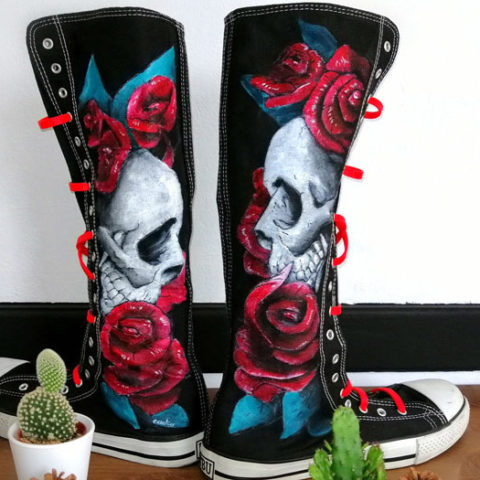 ζωγραφική σε παπούτσια
