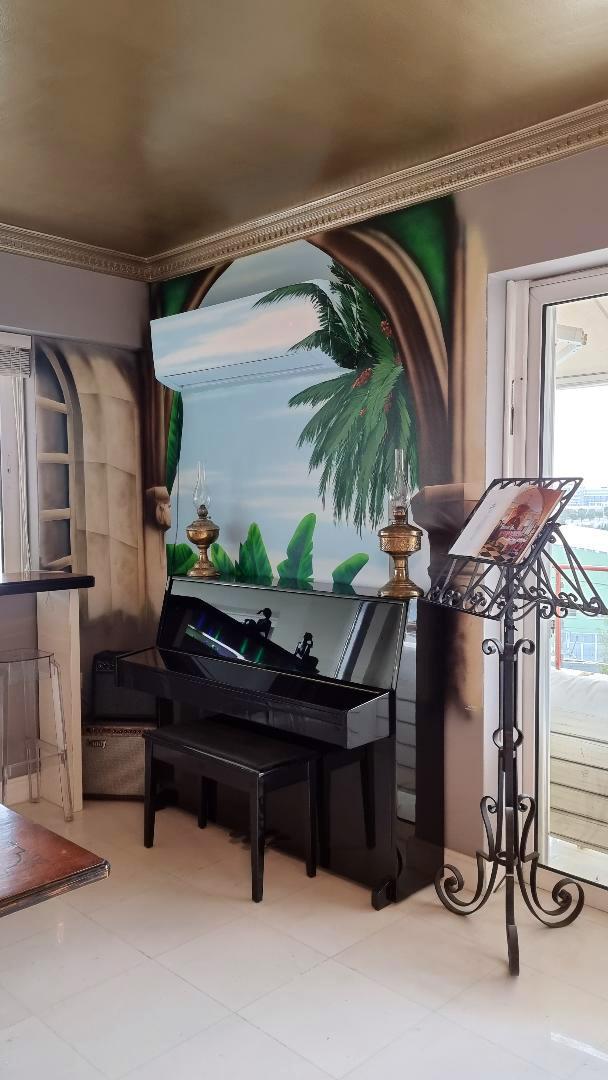 ζωγραφική φοίνικες, σαλόνι