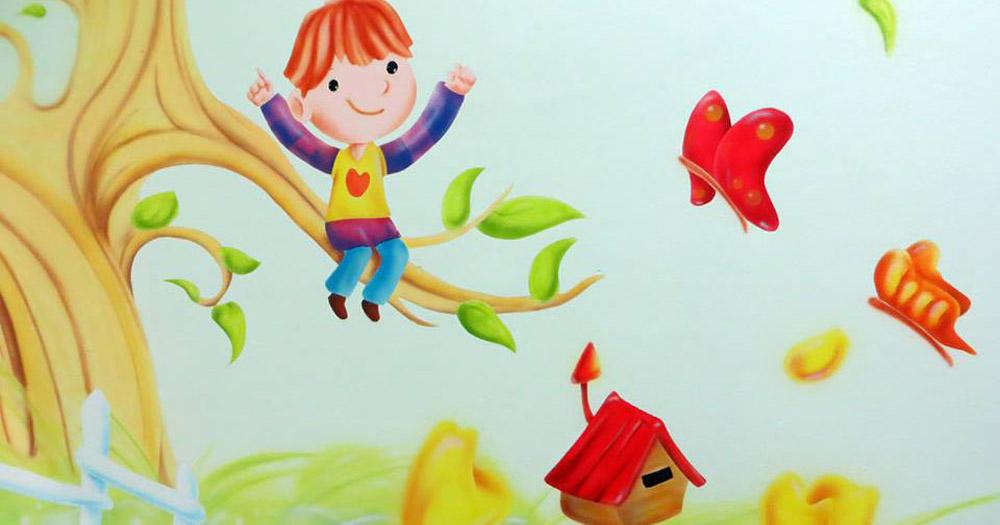 τοιχογραφία σε παιδικό σταθμό